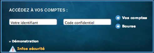 Banque Courtois en ligne : Mon compte
