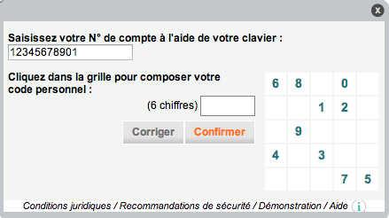 Services Crédit Agricole Brie Picardie - code personnel de mon compte en ligne