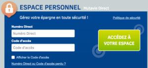 Accéder à mon espace personnel Mutavie.fr