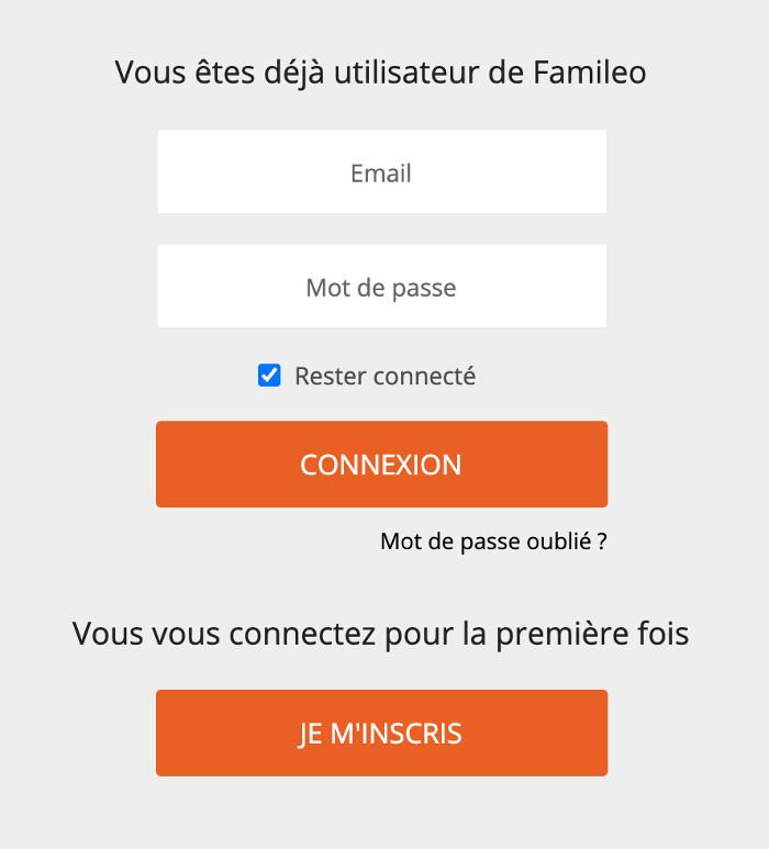 Acces à mon compte www.famileo.com