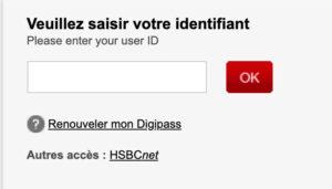 Accès à mon compte entreprise Elys PC HSBC