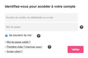 Accès messagerie et espace client Bbox sur espaceclient.bbox.bouyguestelecom.fr