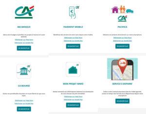 Applications mobiles du CA Alsace Vosges