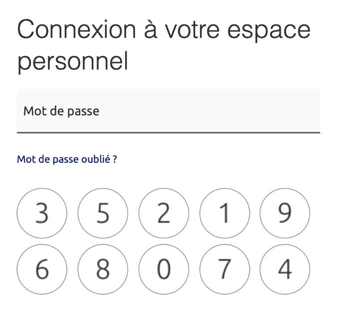 Identification : mon code confidentiel BPFC, mon mot de passe