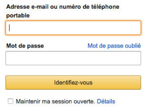 Compte client Amazon : s'identifier à son espace membre