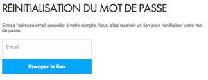 Mot de passe perdu Canal Plus sur espaceclientcanal.fr