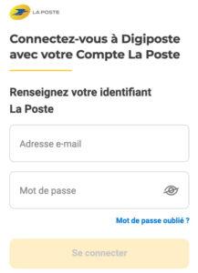 Connexion à digiposte.fr