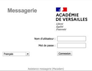 Connexion à mon compte webmail sur ac-versailles.fr