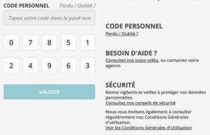 Connexion à l'espace personnel CA France-Comté