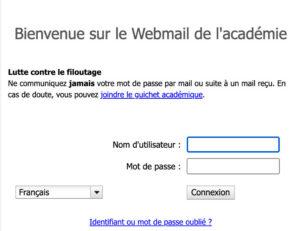 Connexion à webmail.ac-grenoble.fr : convergence
