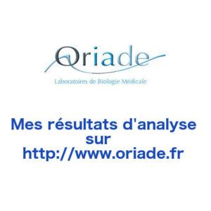 Consulter mes résultats sur l'espace patient Oriade - www.oriade.fr