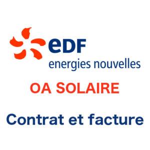 Mon contrat et ma facture EDF-OA Solaire en ligne
