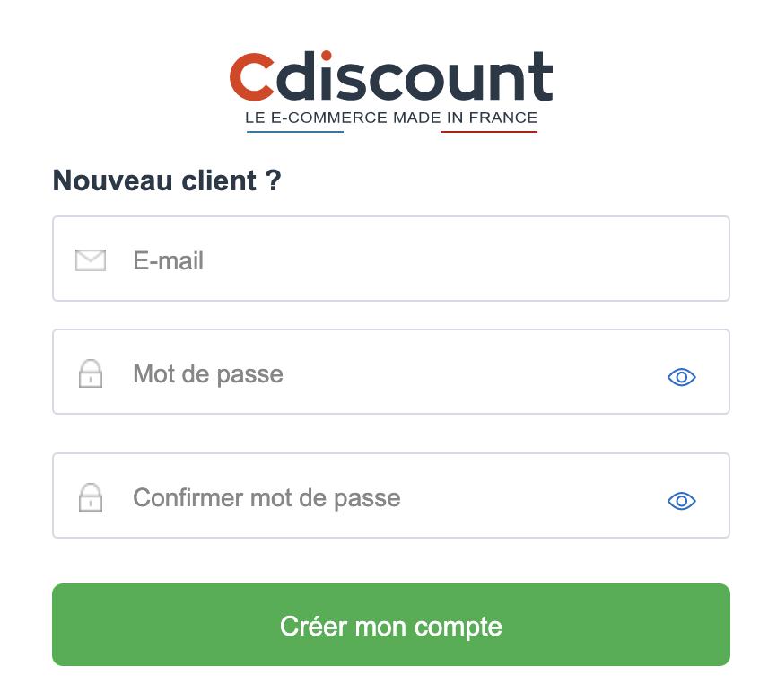 Comment créer un compte Cdiscount