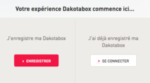 Dakotabox : enregistrer son coffret cadeau dakotabox.fr