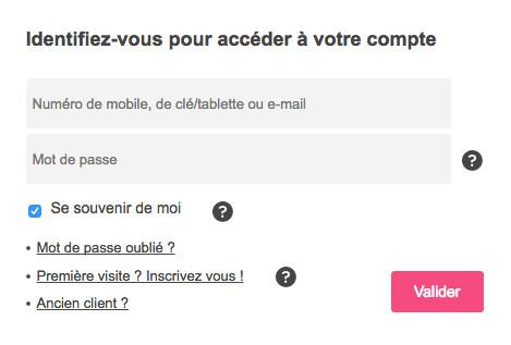 Espace client : accès à mon compte B and You