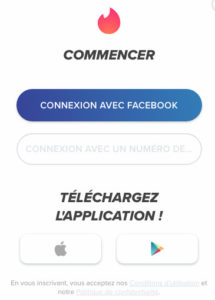 Inscription Tinder sans Facebook