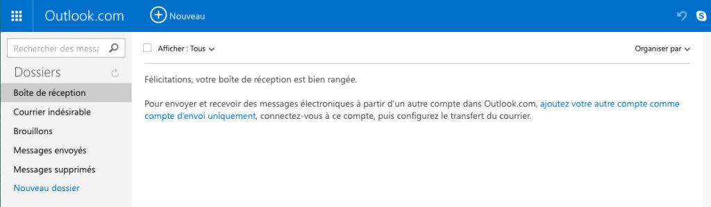 Boite mail Hotmail MSN Outlook
