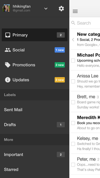 Messagerie Gmail sur iPhone, iPad et Android