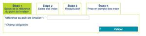 Mon relevé de compteur en ligne (index)