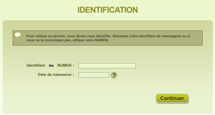 Mot de passe du webmail Versailles perdu