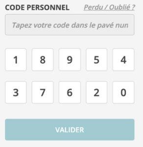 Saisir mon code personnel sur www.ca-illeetvilaine.fr