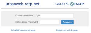 Se connecter à la messagerie Argos RATP sur urbanweb.ratp.net