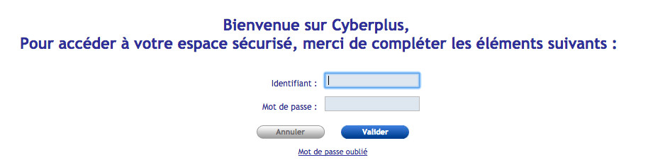 Se connecter à mon compte Cyberplus Occitane - www.occitane.banquepopulaire.fr
