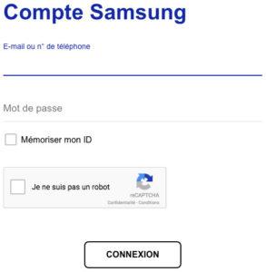 Se connecter à mon espace client Samsung