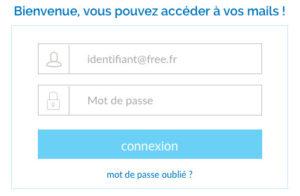 Se connecter au webmail Free Mail - imp.free.fr