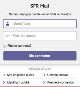Se connecter au webmail Neuf : messagerie mail de SFR