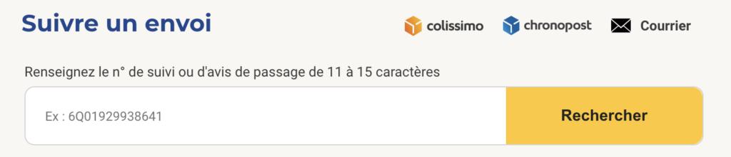 Suivre un envoi courrier, Colissimo et Chronopost sur www.csuivi.courrier.laposte.fr