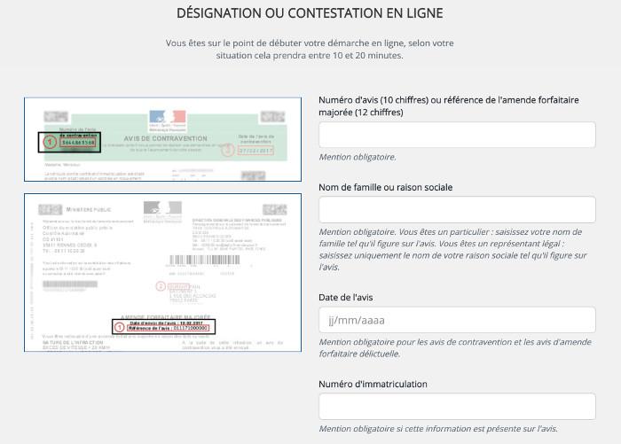 www.antai.gouv.fr : contestation en ligne