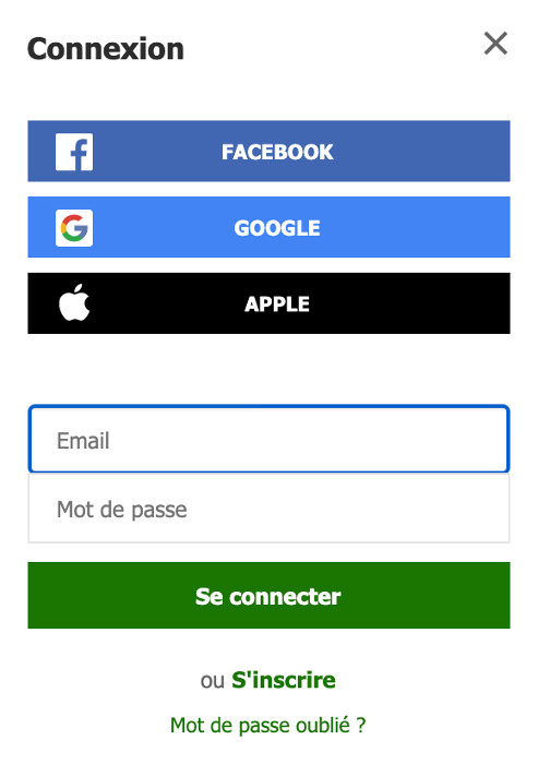 www.flashscore.fr : Connexion
